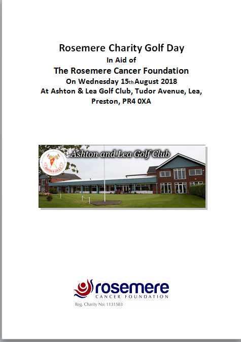 Rosemere Charity Golf Day poster
