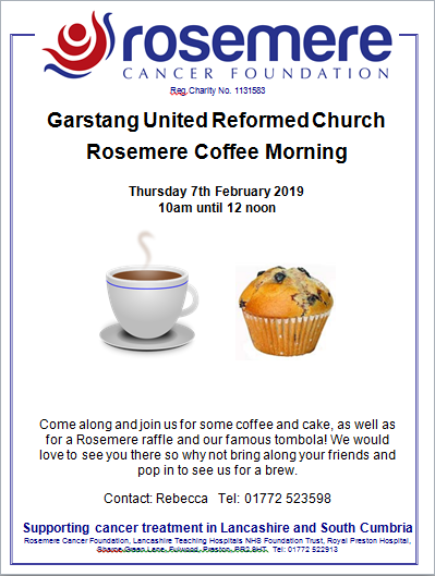 Garstang United Reformed Church Coffee Morning Poster