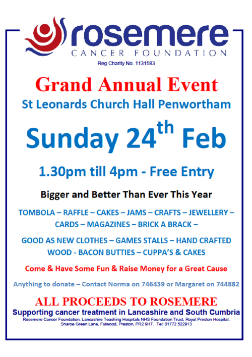 Norma and Margaret's Grand Annual Event Poster