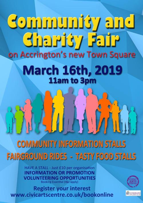 Poster for Accrington Community and Charity Fair