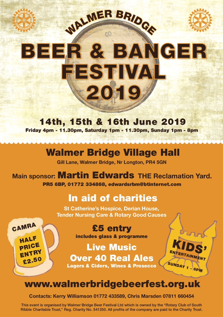 Poster for Walmer Beer and Banger Festival