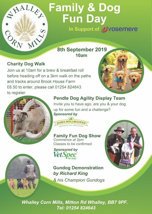 Family & Dog Fun day at Whalley Corn Mills