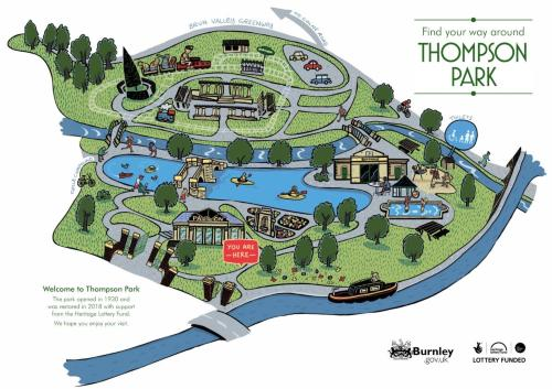 Map of Thompson Park