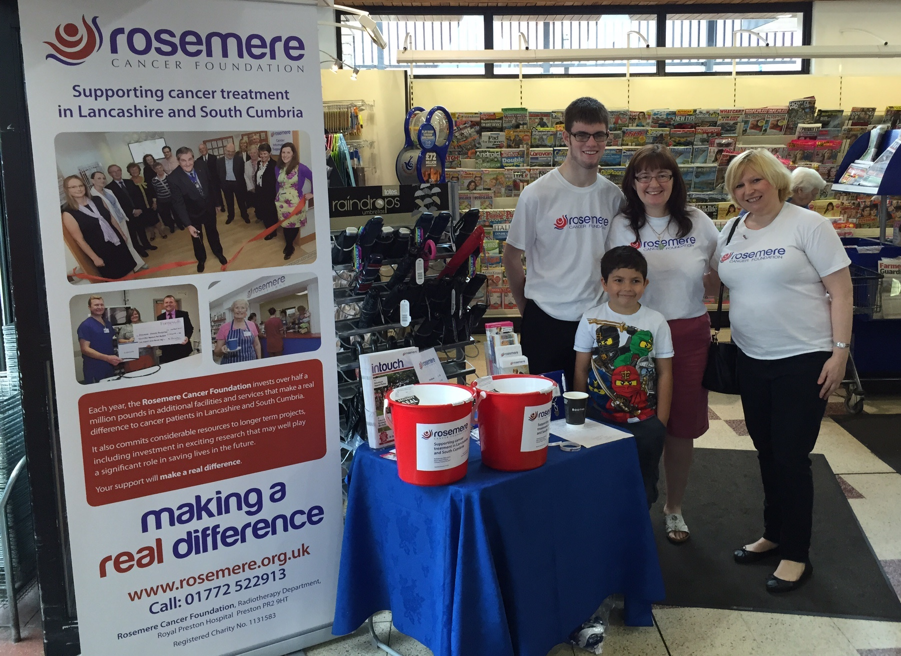 Volunteers helping with a supermarket collection